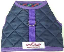 Vest Harness Navy Quilted