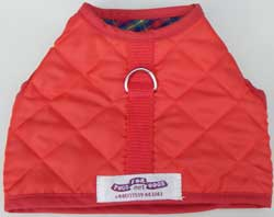 Vest Harness Red Quilted