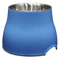 Raised feeding bowls for whippets