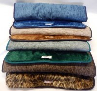 Faux Fur Cage Matts in assorted colours