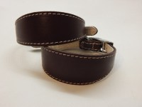 Chocolate Brown Italian Greyhound Leather Collar