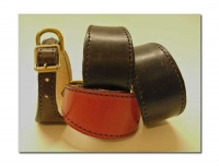 Plain leather IG Collars lined with soft pigskin.