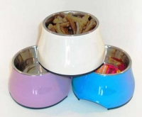 Raised feeding bowls for Italian Greyhounds